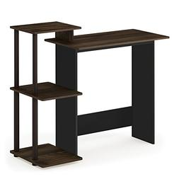 Furinno 11192CWN/BR Efficient Home Computer Desk with Shelve