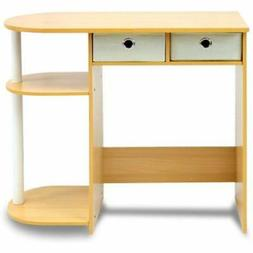 11193BE/WH/IV Go Green Home Computer Desk/Table, Beech/Ivory