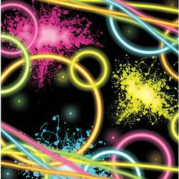 16 Glow Party Neon Beverage Napkins Table Decorations Desser