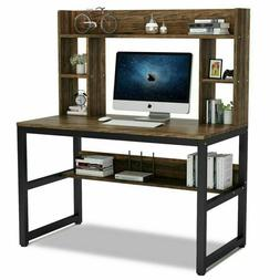 """47"""" Home Office Computer Desk with Hutch and Bookshelf Space"""