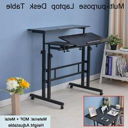 Adjustable Height Lift Stand Up Computer Desk Table Workstat