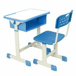 Adjustable Height Student Desk and Comfortable Chair Set  fo