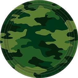Amscan Adventurous Camouflage Lunch Plates Birthday Party Su