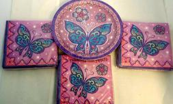 BUTTERFLY SPARKLE Party Supplies 16th Birthday Princess Purp