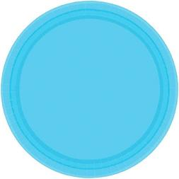 "Amscan Caribbean Birthday Party Round Paper Plates , 7"", Blu"