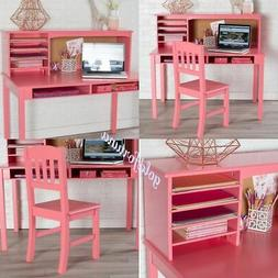 Study Desk for Kids with Chair and Hutch Set Small Computer