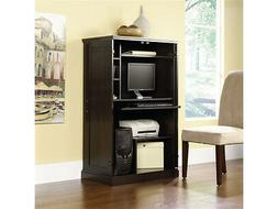 Cherry Computer Armoire Desk Hutch Workstation - Hideaway -