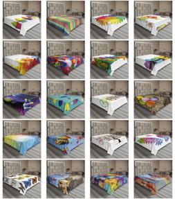 Ambesonne Colorful Print Flat Sheet Top Sheet Decorative Bed