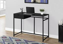 "Monarch Specialties 42"" Computer Desk, Black/Black Metal - I"
