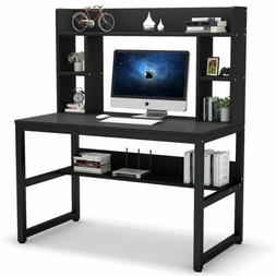 Tribesigns Computer Desk with Storage Shelves Hutch Home Off