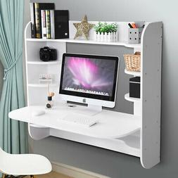 Computer Desk Work Table Floating Wall Mounted Home Office w