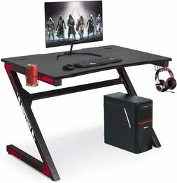 Computer Gaming Desk with Cup Holder for Home or Office, Gam