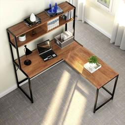 Corner Computer L Shaped Desk With Hutch Perfect Workplace F