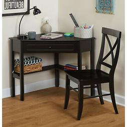 Corner Desk and Matching Chair Set for Home Office Computer