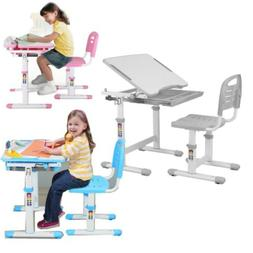 Desk and Chair Set Height Adjustable Kids Children's Sturdy