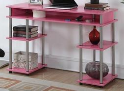 Desk For Girls Pink Small Spaces Writing Dorm Compact Home O