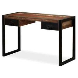"""vidaXL Desk with 2 Drawers Solid Reclaimed Wood 47.2"""" Study"""