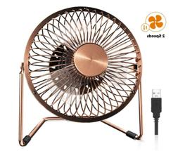 Desktop Table Fan 5 Inch  Desk Fan Retro Bronze