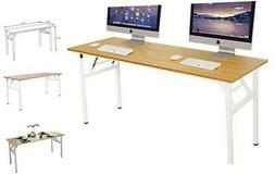 DlandHome Need 62 Inches Large Home Office Computer Desk, No