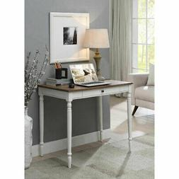 Convenience Concepts French Country Desk in Driftwood and Wh