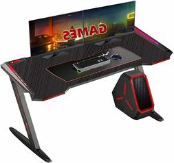 Gaming Computer Desk 47 inch Ergonomic PC Table with Cup Hol