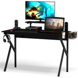 Gaming Desk Computer Desk PC Table Workstation with Cup Hold