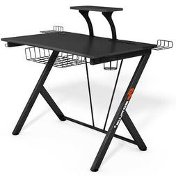 Gaming Desk Computer Desk PC Table Workstation with Headphon