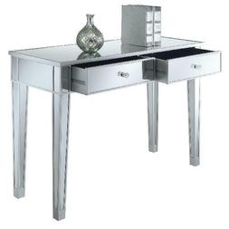 Convenience Concepts Gold Coast Mirrored Desk Vanity in 3 Co