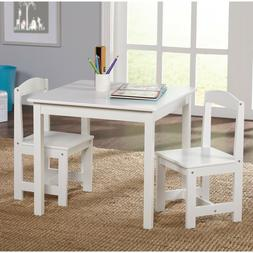 Hayden Kids 3-Piece Table and Chair Set Multiple Colors Whit