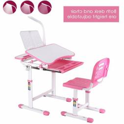 Height Adjustable Desk and Chair Set High School Student Kid