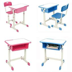 Height Adjustable Student Desk and Chair Kit Children Kids H