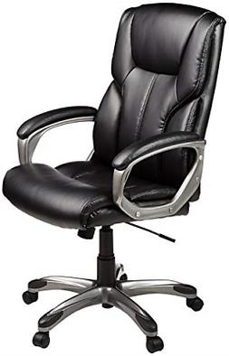 High Back Leather Executive Swivel Adjustable Desk Chair Wit