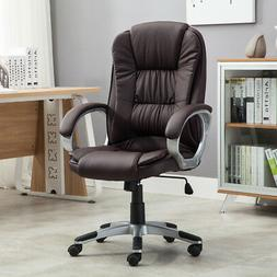 high brown pu leather executive office desk