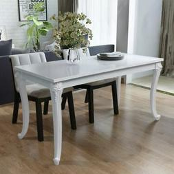 vidaXL High Gloss White Dining Dinner Table Dining Room Kitc