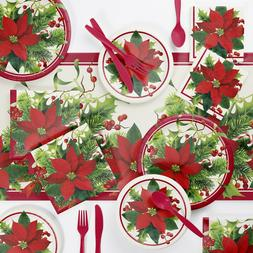 Holiday Poinsettia Party Supplies