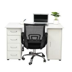 Home Computer Desk Laptop Table W/ 4 Drawer Home Office Stud