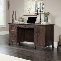 Home Office Desk in Coffee Oak Look Computer Table with Draw