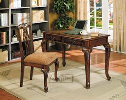 Home Office Writing Study Computer Wood Table Desk 2 Drawers