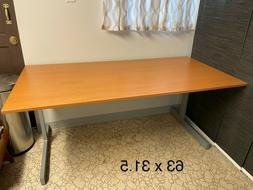 IKEA JERKER desk with metal frame great condition