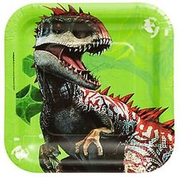 Jurassic World Dessert Plates 8 Per Package Birthday Party S