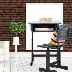 kids Study Table and Chair Set Height Adjustable Chair and D