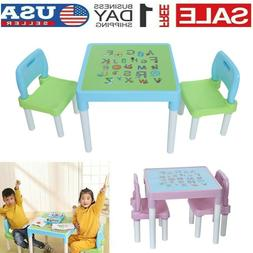 Kids Table and 2 Chairs Set For Toddler Baby Gift Desk Furni