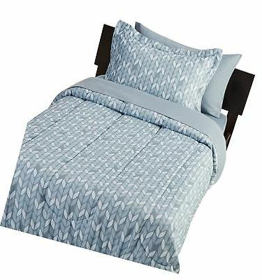 AmazonBasics 5-Piece Bed-In-A-Bag Twin/Twin Extra-Long, Free Shipping