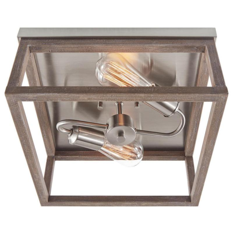Boswell 2-Light Nickel Mount with Weather