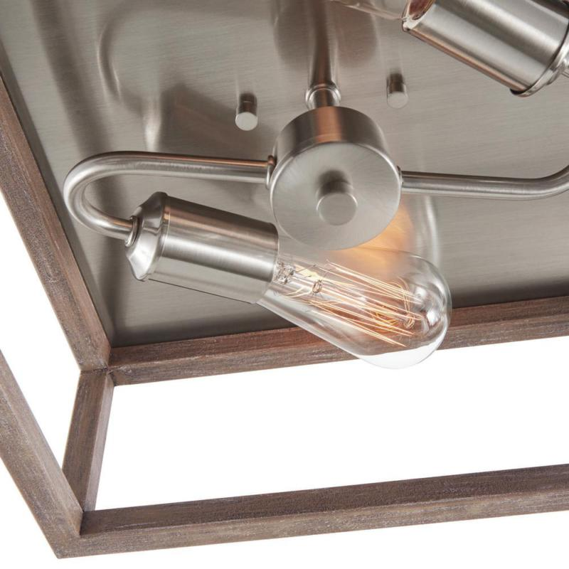 Boswell 2-Light Brushed Nickel Mount Weather