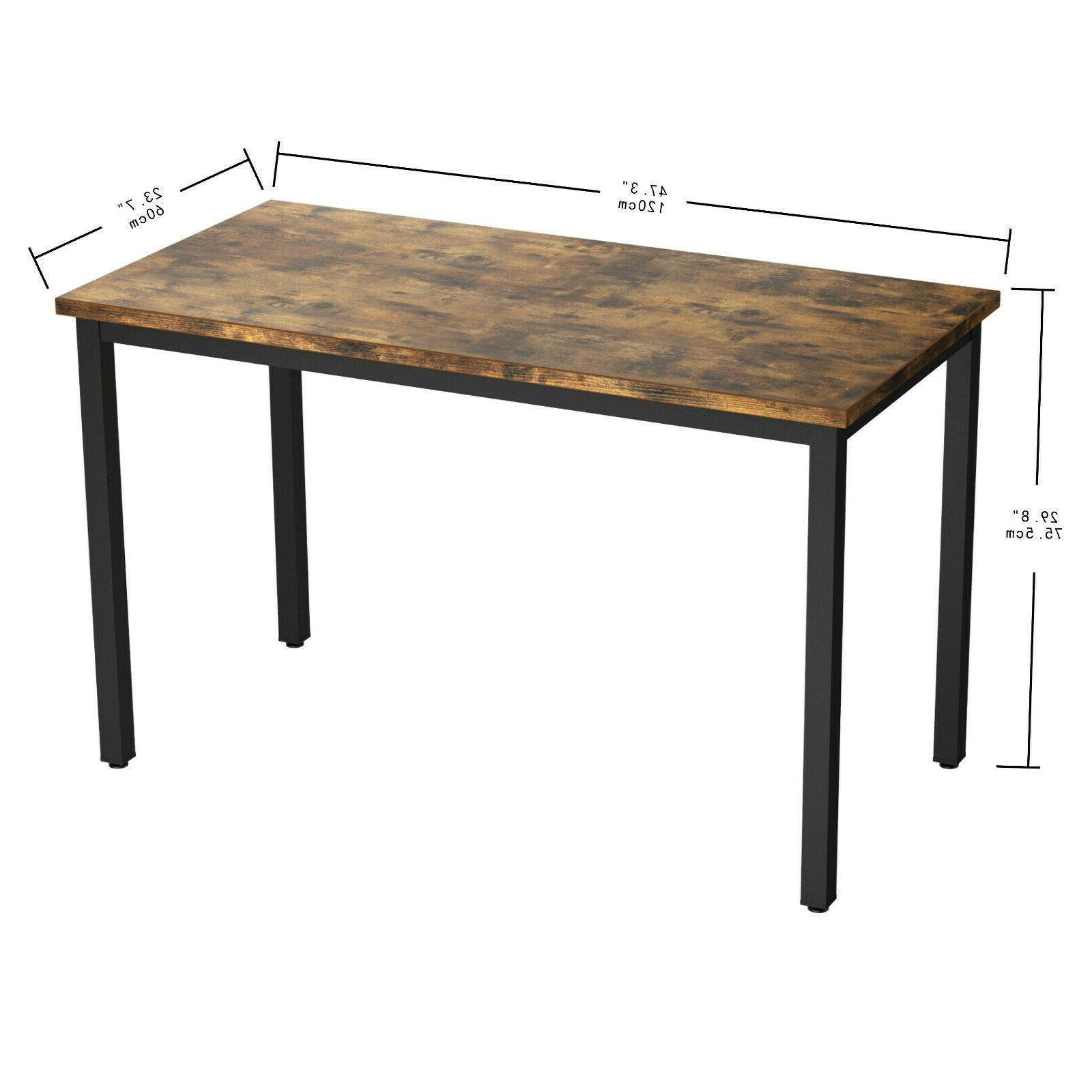 """Computer Desk, 47"""" Simple Study Table for Home"""