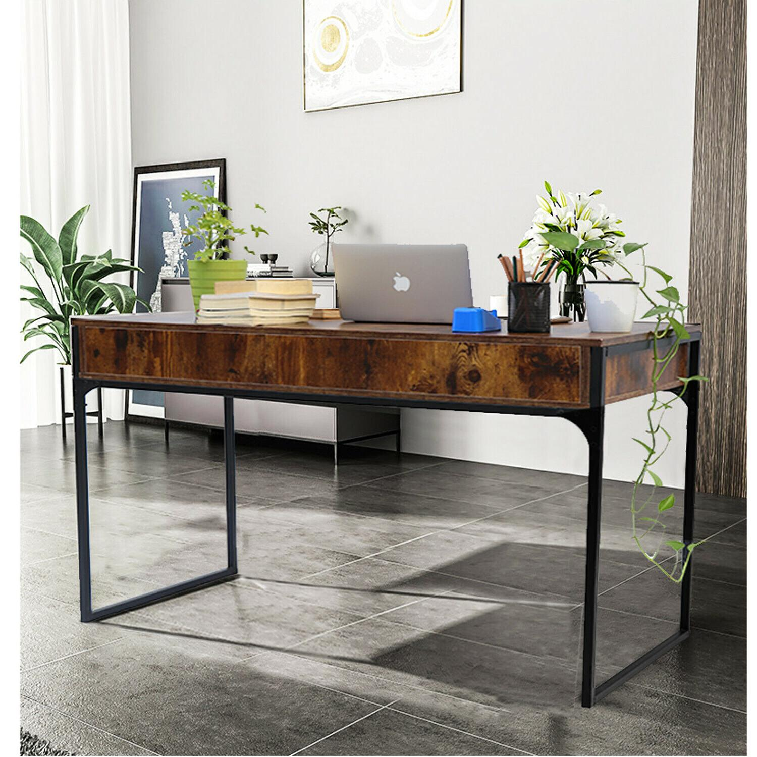 Computer PC Table Study Workstation Wood Home w/Drawers