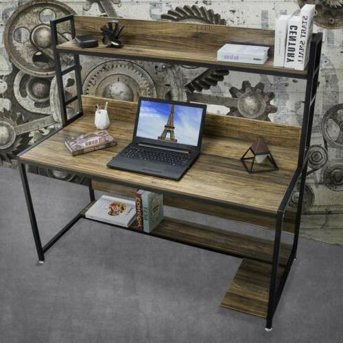 Bizzoelife Desk Table Hutch for Home