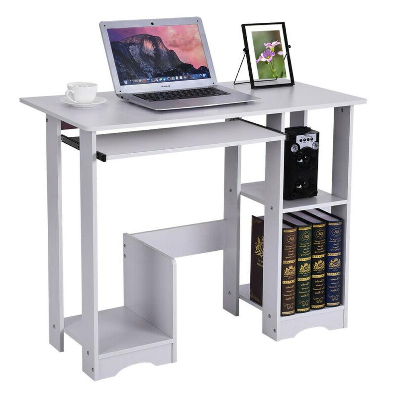 Wood Computer Desk PC Laptop Writiting Table Workstation  Ho