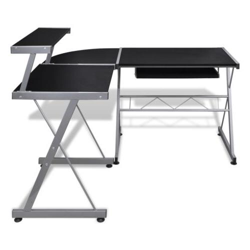 vidaXL Computer Desk Workstation With Pull Out Tray